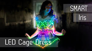 smart led light up cage fashion dress etereshop youtube