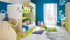modern kids bedroom sets orange yellow plain minimalist stained