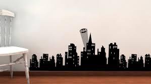 amazon com gotham skyline vinyl wall decal batman super hero amazon com gotham skyline vinyl wall decal batman super hero avengers buildings home kitchen