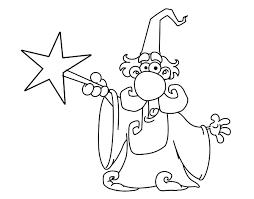 magician magic wand coloring coloringcrew