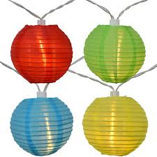 solar powered lantern lights led solar powered multi colored nylon lantern string lights