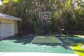 Backyard Basketball Half Court Driveway Basketball Court Landscape Contemporary With Basketball