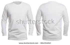 blank vneck shirt mock template front stock photo 664354018