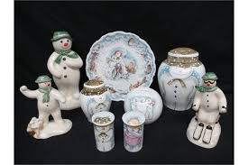 a quantity of the snowman ornaments by royal doulton the