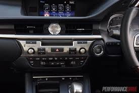 lexus es interior 2016 lexus es 350 sports luxury review video performancedrive