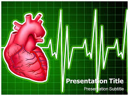 cardiology with green powerpoint templates backgrounds of heart