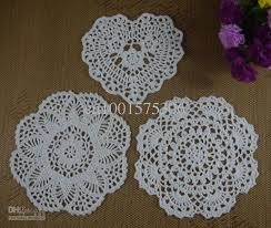 heart shaped doilies 2017 handmade crochet pattern doily 3 designs cup pad mat table