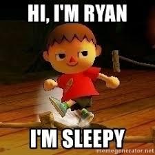Im Sleepy Meme - hi i m ryan i m sleepy villager smash bros meme meme generator