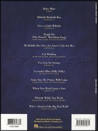 classic disney songs big note piano sheet music book pinocchio