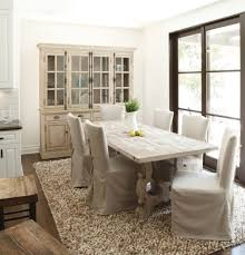 whitewash distressed reclaimed table dining room traditional with
