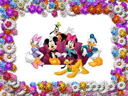mickey minnie donald goofy and pluto flower frame