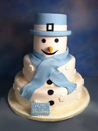 white and blue snowman edda u0027s cake designsedda u0027s cake designs