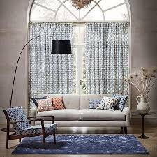 Batik Upholstery Fabric Clarke U0026 Clarke Batik Curtain Upholstery Fabric Indigo 137cm Abakhan