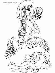 mermaid coloring pages kids cool coloring mermaid coloring