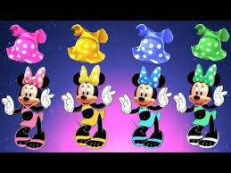 wrong dress disney minnie mouse learn colors baby finger family