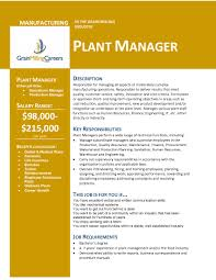 Product Development Manager Job Description Grain Milling Careers U2013 Plant Manager