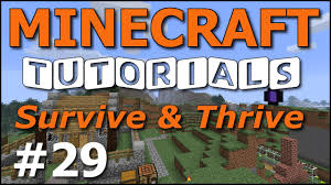 minecraft tutorials e29 home decorating basics survive and
