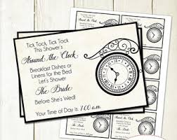 around the clock bridal shower clock insert etsy uk