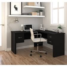 monarch cappuccino hollow core l shaped computer desk hayneedle