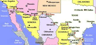 Us Mexico Border Map by Map Of Us States Bordering Mexico On Map Images Let U0027s Explore All