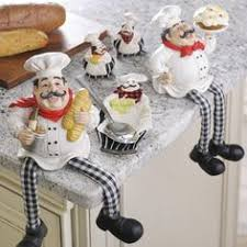Chef Kitchen Decor Accessories Kitchen Magnets Chef Themed Set Of 6 Refrigerator Ceramic Notes