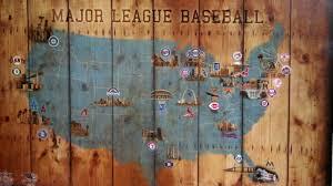 Baseball Map Baseball Stadium Map All National And American League Teams Youtube