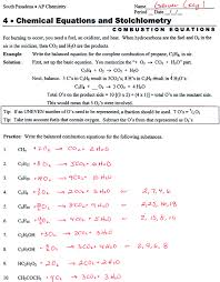 writing and balancing chemical equations worksheet answers worksheets