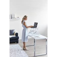 Standing Sitting Desk by Wynston Sit Stand Desk Small White Officeworks