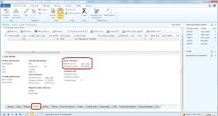 microsoft dynamics ax 2012 item reference of direct delivery