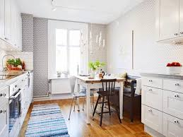 Grey Striped Rug Grey Striped White Frilled Cloth Rug Brown Kitchen Cabinet White