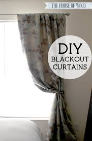 How To Make Drapery Panels With Lining Diy Blackout Lined Curtains