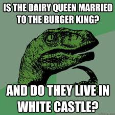 King And Queen Memes - is the dairy queen married to the burger king and do they live in