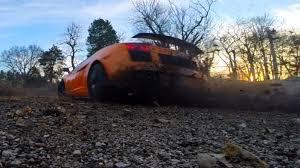 Lamborghini Gallardo Drift - lamborghini gallardo goes classic gymkhana with dirt road drifting