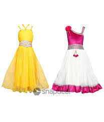 tiny toon pack of 2 party wear dresses for kids buy tiny toon