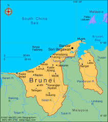 brunei map in world where is brunei darussalam located on the world map