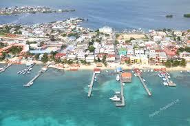 san pedro town core the bridge to ramons village aerial photos