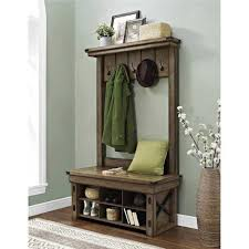 beautiful full hall tree and storage bench also home style 5650 49