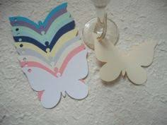 20 kraft texture colour large butterfly shaped tags for place