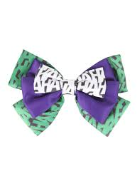halloween bow ties dc comics the joker haha cosplay hair bow topic