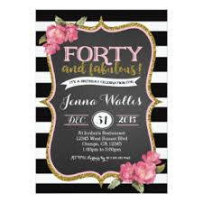 40th birthday invitations u0026 announcements zazzle com au