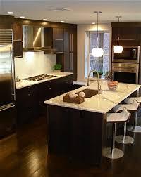 espresso kitchen island espresso veneer cabinets contemporary kitchen