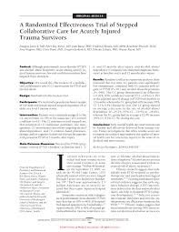 a randomized effectiveness trial of stepped collaborative care