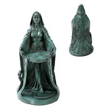 Celtic Home Decor Danu Celtic Goddess Resin Statue Celtic Gods Fertility