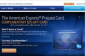 free prepaid cards amex prepaid card 5x points and free 25 amex gift card