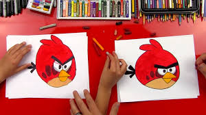 how to draw red from angry birds art for kids hub