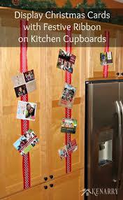 ribbon display displaying christmas cards with ribbon
