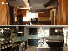 kitchen with island banquette seating lightning construction kitchen remodel before and after
