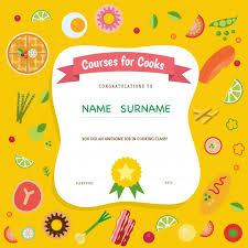 cours de cuisine gratuit en ligne certificat de cours de cuisine télécharger des vecteurs gratuitement