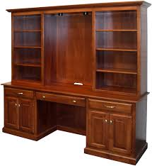 Desk And Bookshelves by Amish Naper Bookcase Desk