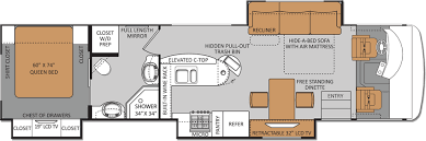 class a rv floor plans thor challenger 38 foot luxury class a motorhomes with island bar
